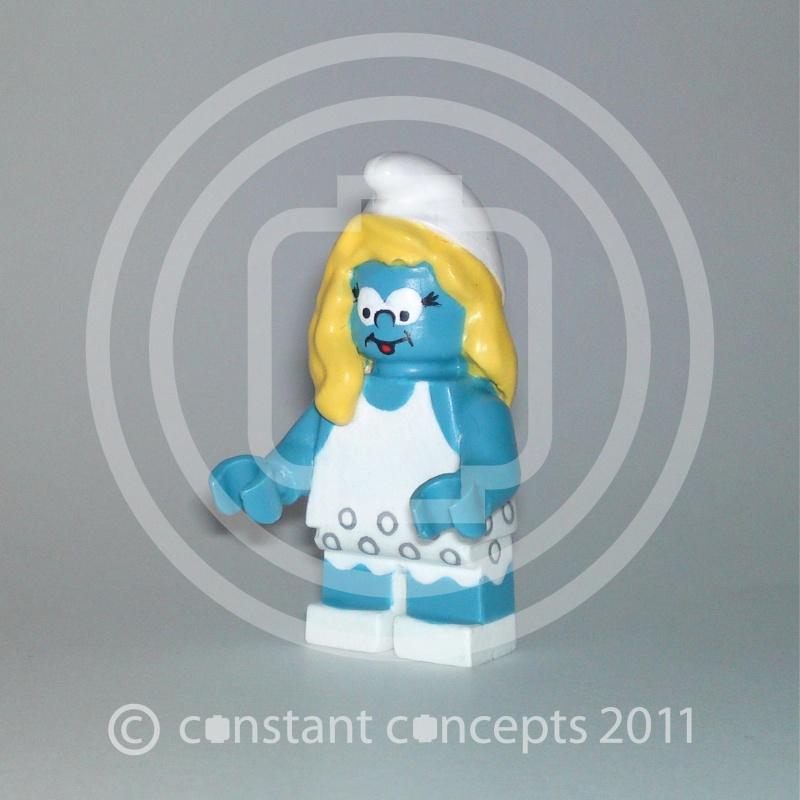 village et schtroumpf en légo Lego410