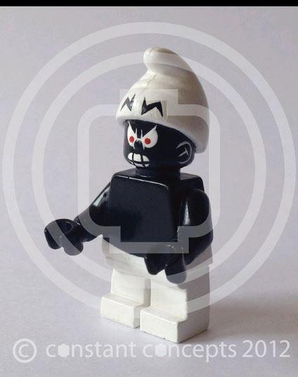 village et schtroumpf en légo Lego510