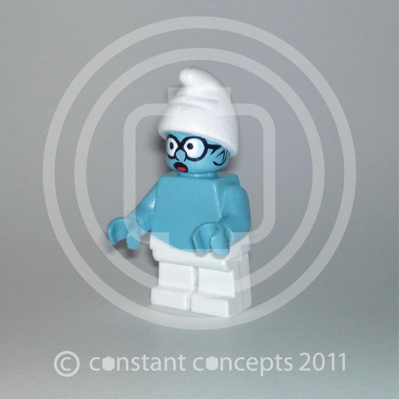 village et schtroumpf en légo Lego710