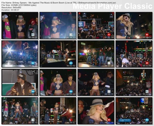 Me Against The Music & (I Got That) Boom Boom (Live At TRL) (HQ) Britne11