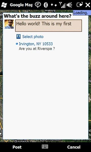 Google Maps 4.0 pour Windows Mobile prend en charge Buzz Buzz210