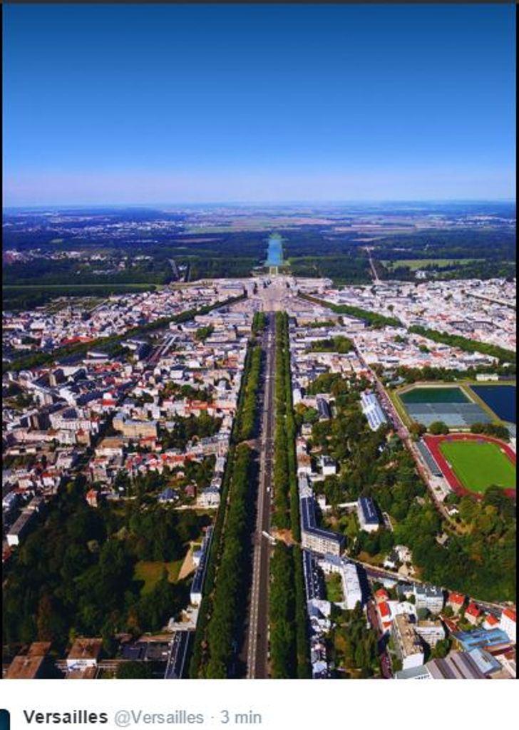 Versailles vu du ciel.  3311