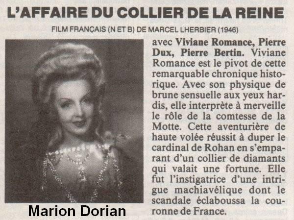 Film : L'affaire du collier, de Marcel Lherbier 0110