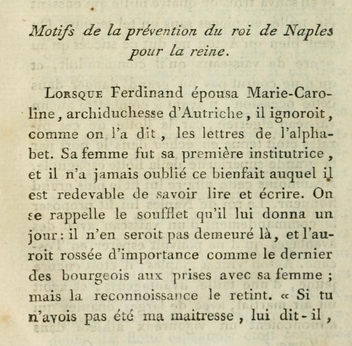 Un beau-frère de Marie-Antoinette :   Ferdinand IV , roi de Sicile 116
