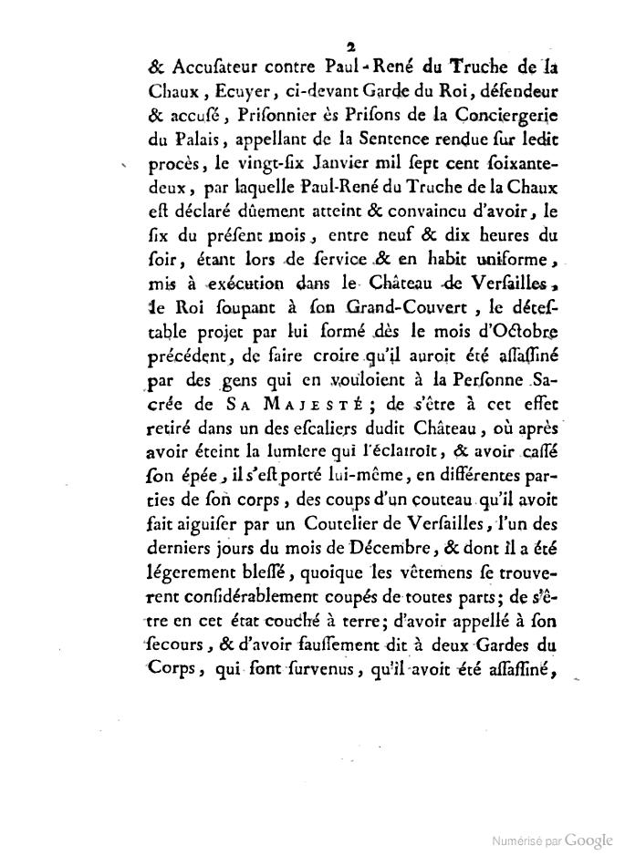 L'incroyable histoire de Truche de La Chaux Books21