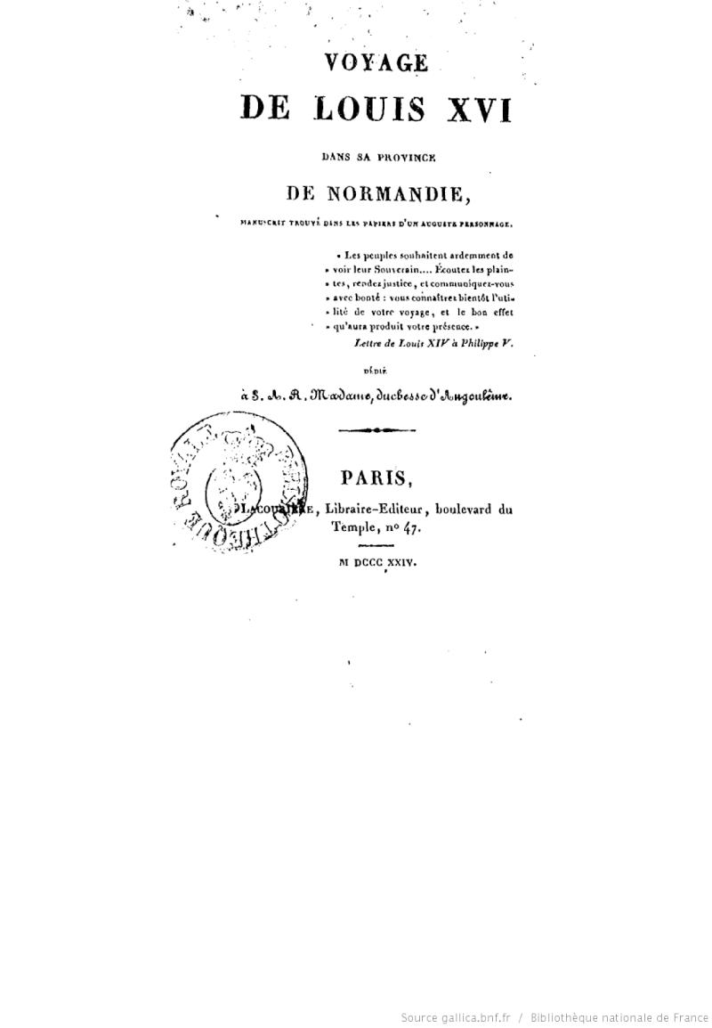 Le voyage de Louis XVI en Normandie Bpt6k112