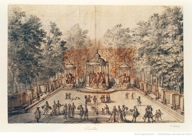 Versailles, le Bosquet des Bains d'Apollon Btv1b710