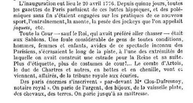 Marie-Antoinette et les courses hippiques Course12