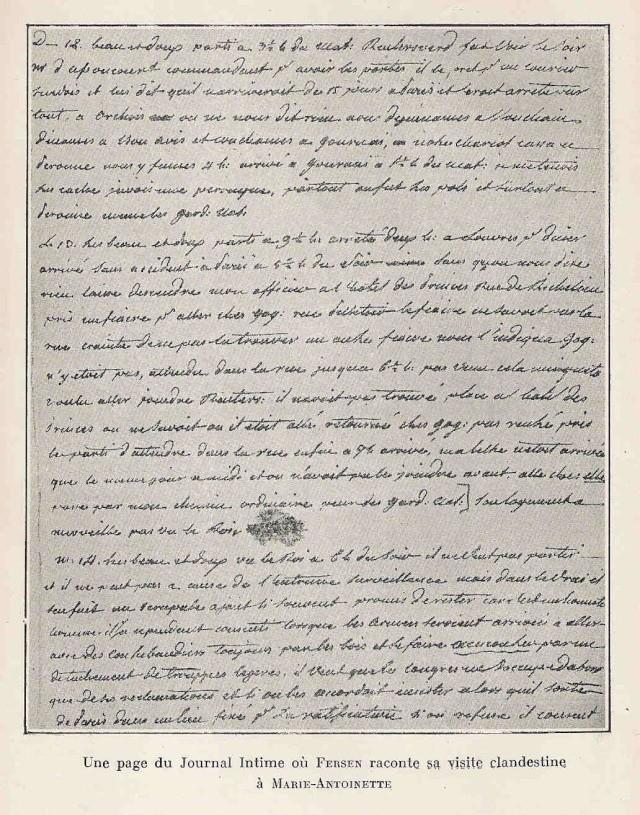 Lettres, mots, notes et extraits du journal d'Axel de Fersen - Page 2 Dagbok10