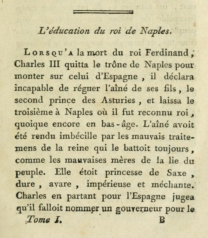 Un beau-frère de Marie-Antoinette :   Ferdinand IV , roi de Sicile F_110