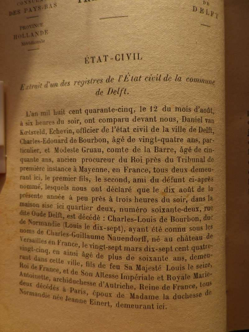 Naundorff, un descendant Bourbon ?... Louis XVII ?? - Page 9 Naondo10