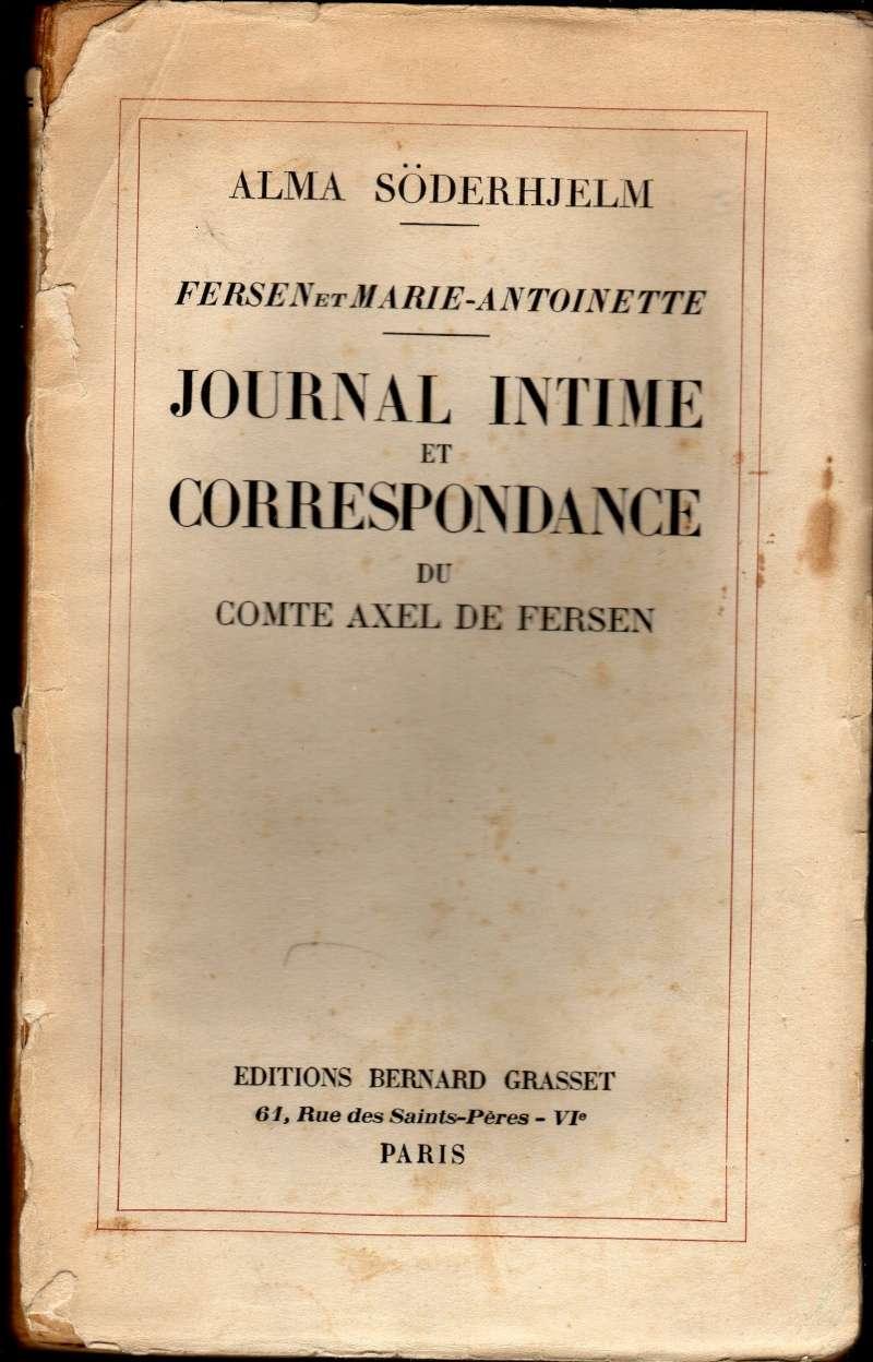 Fersen et Marie-Antoinette, Journal intime et Correspondance, parAlma Söderhjelm Phpthu10