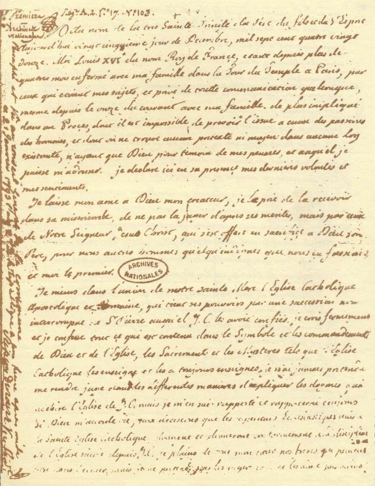 Le Testament de Louis XVI Testam12