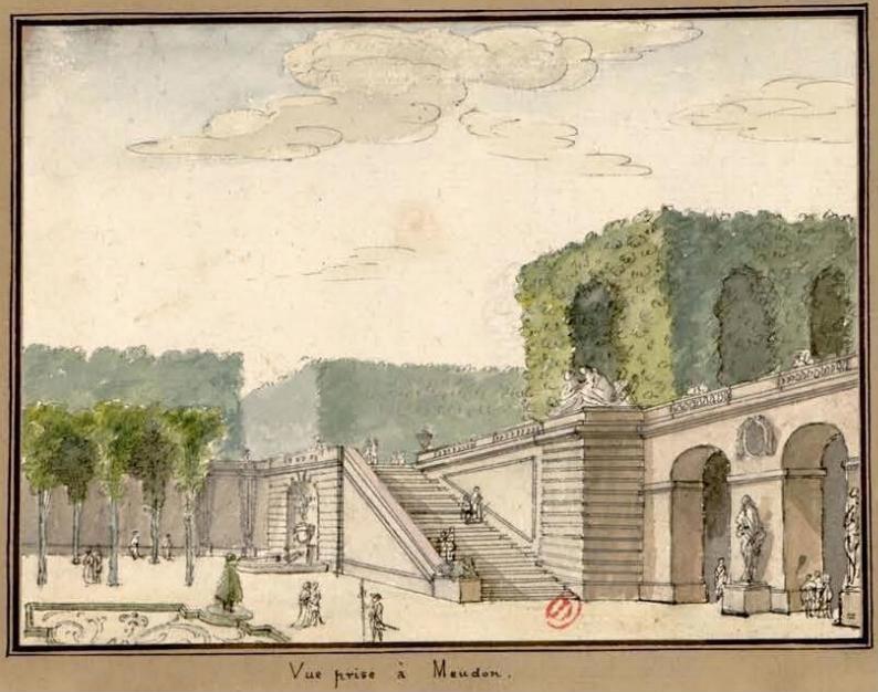 Meudon - Le château de Meudon Vue_pr10