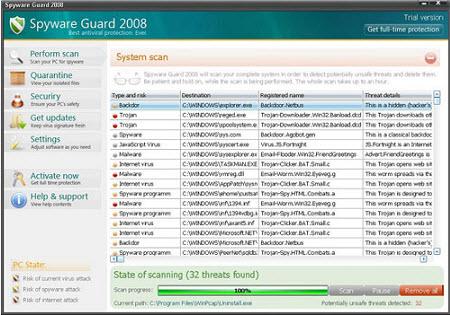 SpywareGuard - Guida alla rimozione Guard110