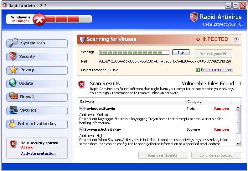 Rapid Antivirus  - Guida alla rimozione Rapid210