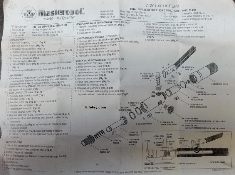 Outil pour faire des flares de freins et essence, Masterlcool brake and gas line flairing tool 20151213