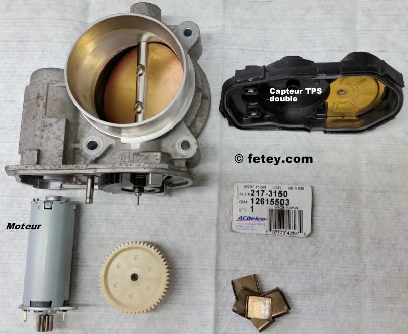 GM TAC démonté, Throttle Actuator Control, papillon électrique 20160122