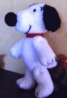 SNOOPY  en laine tricoté Snoopy10