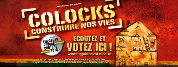 """Votez pour COLOCKS pour le """"European Reggae Contest 2010"""" L_b04111"""