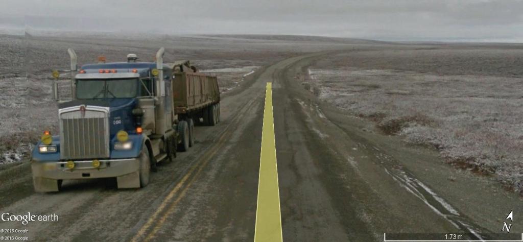 Street view: La route vers l'océan arctique. L'Alaska vu depuis la Dalton Highway. 0i2k1520