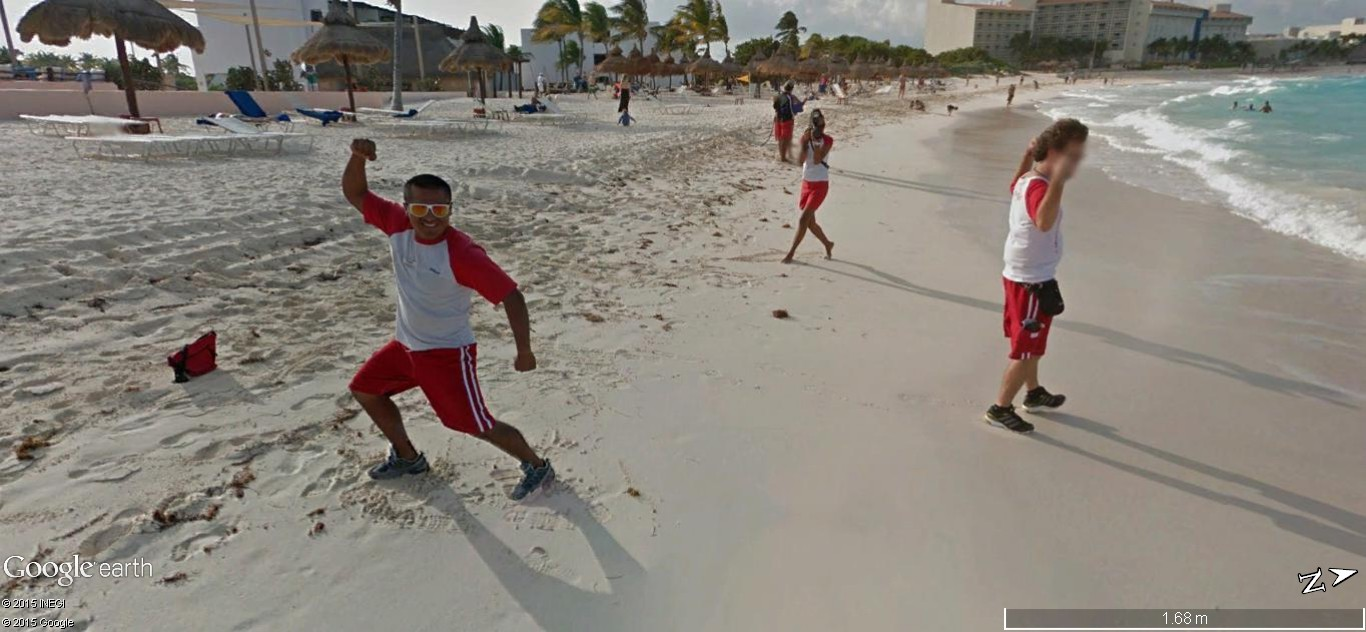 STREET VIEW: Vamos a la playa. Cancun, Mexique  117