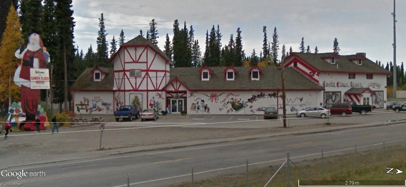 La maison du père Noel, Pôle Nord, Alaska - Etats Unis d'Amérique. 150