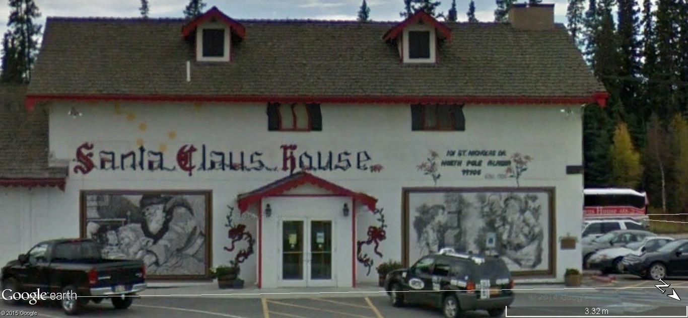 La maison du père Noel, Pôle Nord, Alaska - Etats Unis d'Amérique. 151