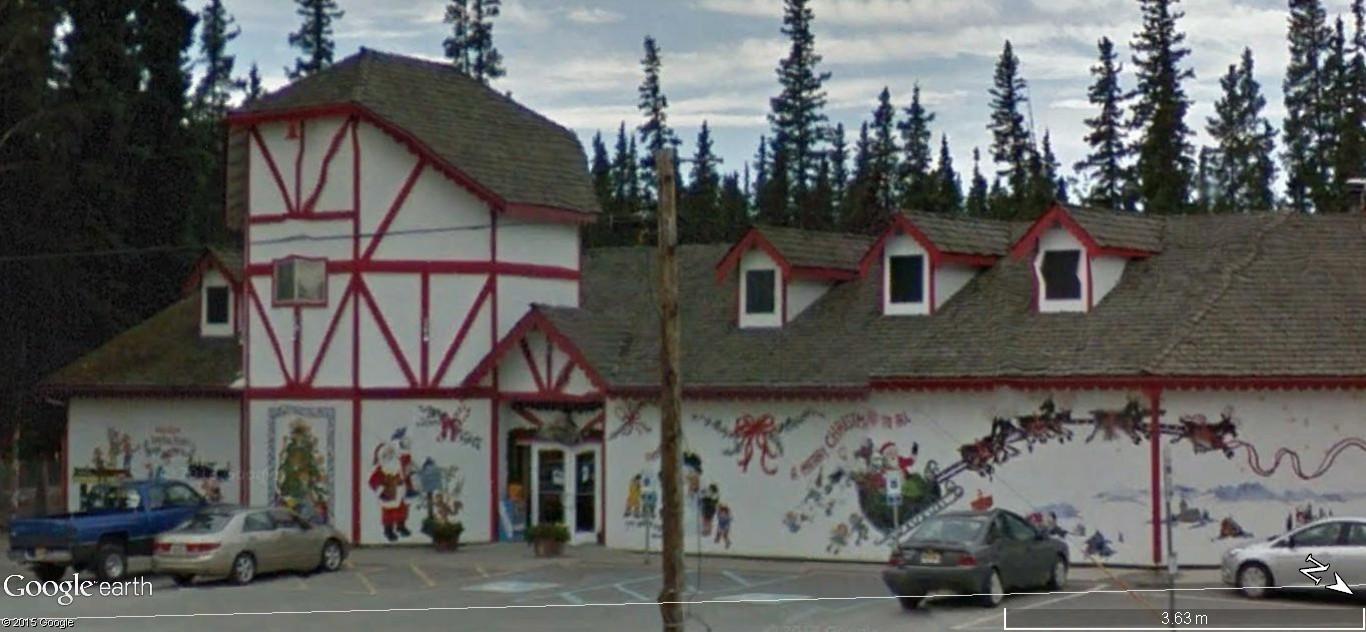 La maison du père Noel, Pôle Nord, Alaska - Etats Unis d'Amérique. 152