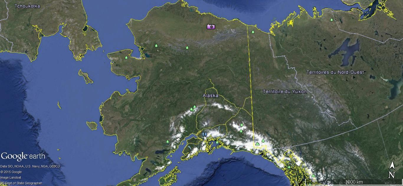 Street view: La route vers l'océan arctique. L'Alaska vu depuis la Dalton Highway. 195