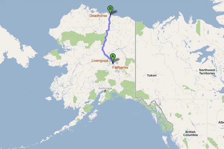 STREET view : Deux Google car qui se suivent, Territoires du Nord Ouest, CANADA 24a35311