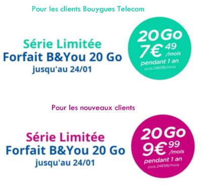 Bouygues Telecom lance un forfait 20Go à partir de 7,49 € / mois Offre_11