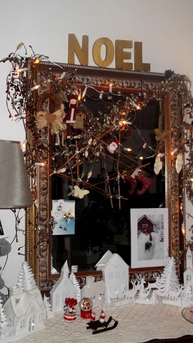 Miroir et village de Noël Sapin_21