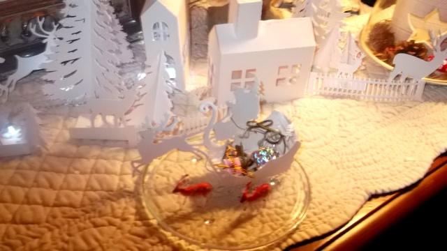 Miroir et village de Noël Sapin_22