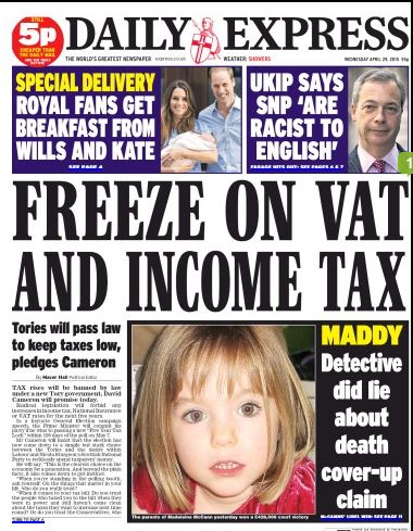 Goncalo Amaral DID NOT LIE about Madeleine: Today (7 Dec 2015) Daily Express publishes, on page 21, an offical correction to its 29 Apr 2015 headline  Front_11