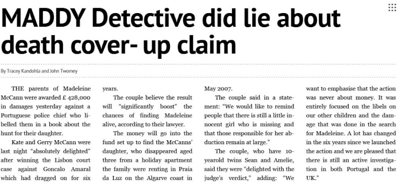 Goncalo Amaral DID NOT LIE about Madeleine: Today (7 Dec 2015) Daily Express publishes, on page 21, an offical correction to its 29 Apr 2015 headline  Maddie10