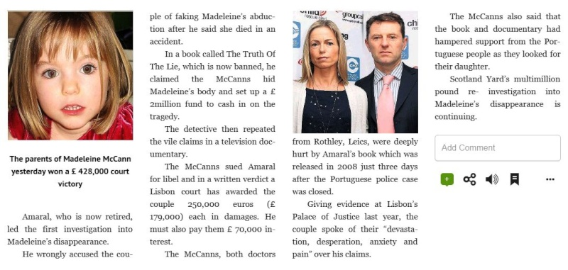Goncalo Amaral DID NOT LIE about Madeleine: Today (7 Dec 2015) Daily Express publishes, on page 21, an offical correction to its 29 Apr 2015 headline  Maddie11