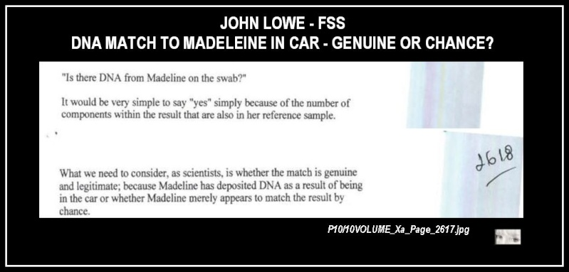 John Lowe tells us there was a MATCH to Maddie in the car & more about DNA & FORENSICS  Match_10
