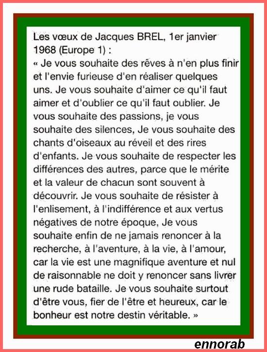 VOEUX DE BREL - BONNE ANNEE Tuto212