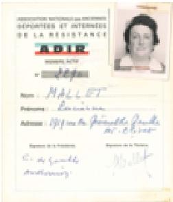Lucienne MALLET déportée de SANDILLON vers RAVENSBRUCK Sans_t17