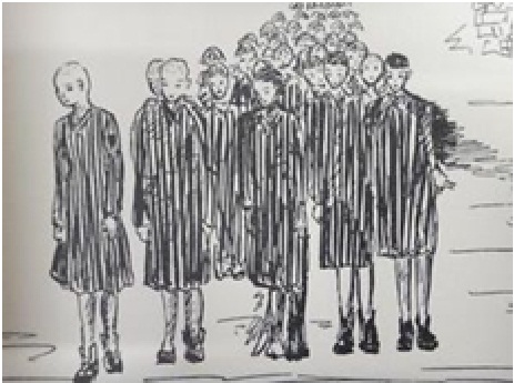 La sandillonnaise Andrée GIBAULT témoigne de son arrivée au camp de concentration de RAVENSBRUCK le 21 août 194 Sans_t22