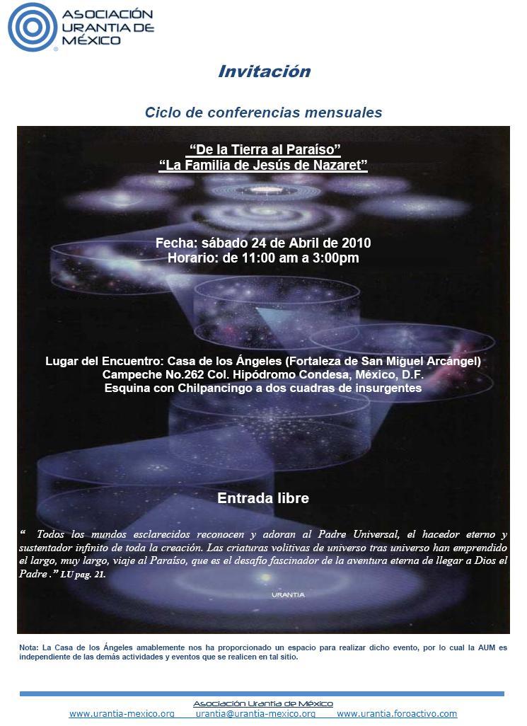 Invitación a Ciclo de Conferencias Mensuales de la AUM Encuan10