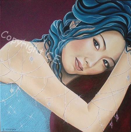 """Peinture à l'huile """"Blue"""" Blue210"""