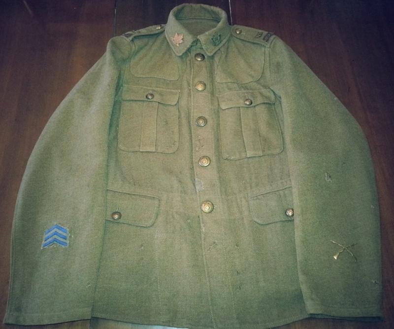 Première Guerre Mondial, Tunique Militaire Canadien.  10473610