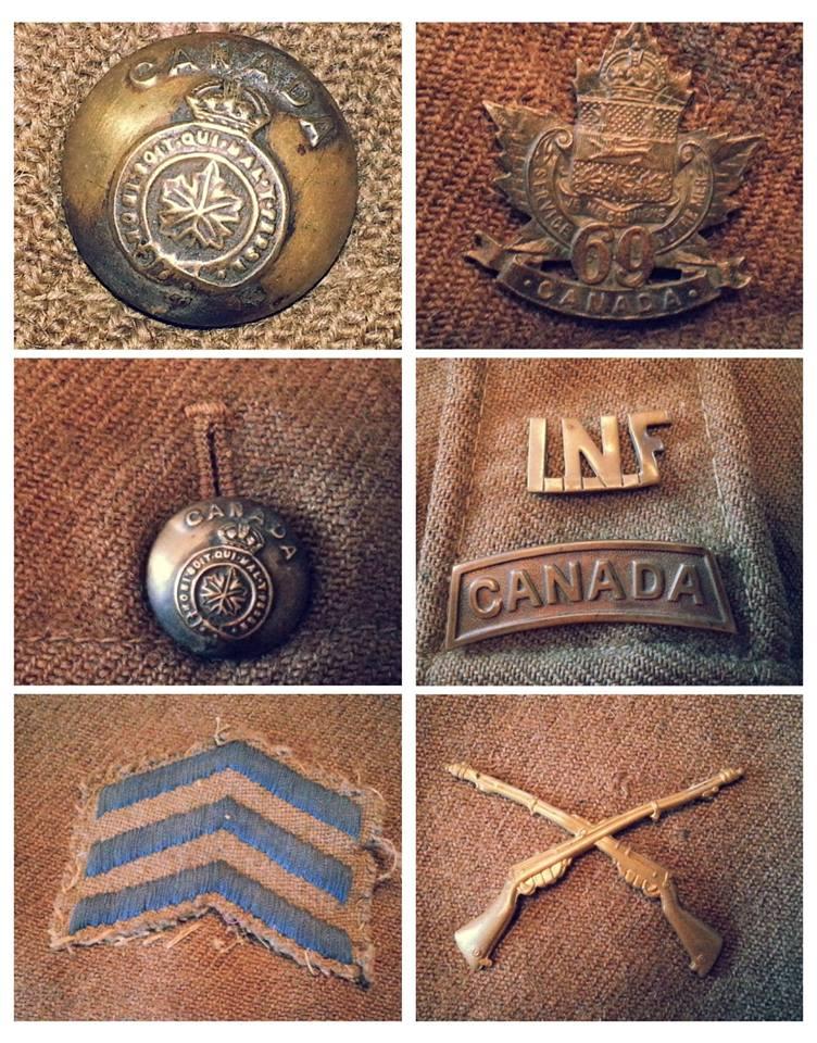 Première Guerre Mondial, Tunique Militaire Canadien.  15113710