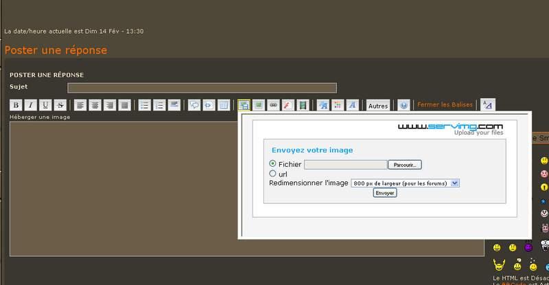 Comment insérer des images dans les messages Insert10