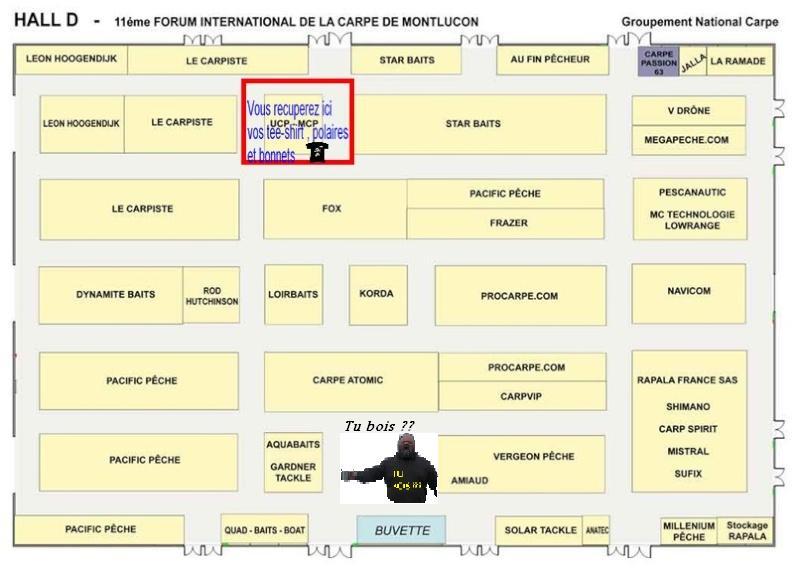 Plan des stands au salon de montluçon Montlu10