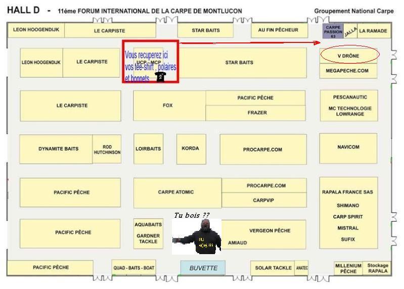 Plan des stands au salon de montluçon Montlu11