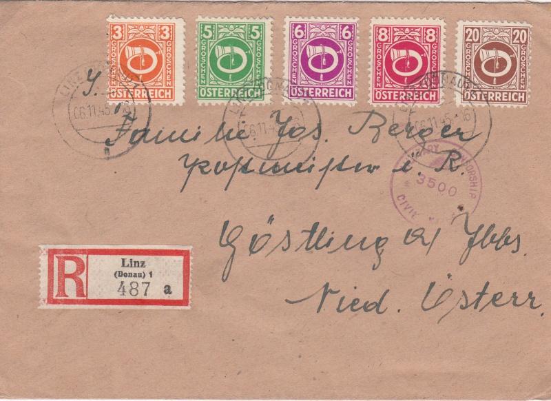 Posthornzeichnung  -  ANK 697-713  -  Belege - Seite 2 Img12