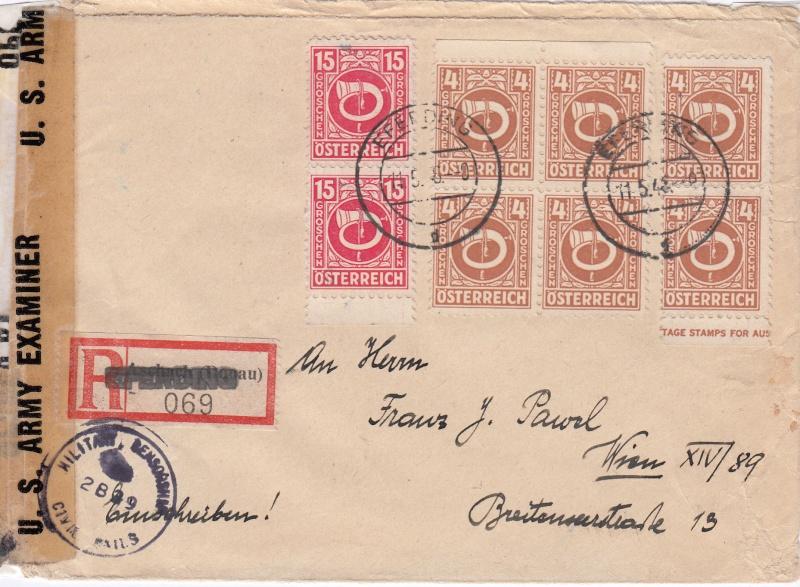 Posthornzeichnung  -  ANK 697-713  -  Belege - Seite 2 Img63